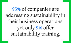 Gap in Corporate Sustainability Initiatives and Staff Training